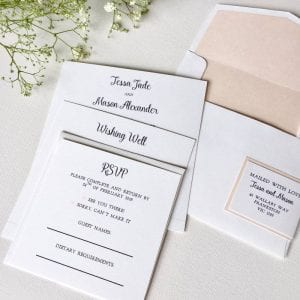 Simplicity Wedding Invitation Suite