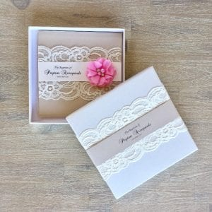 Keepsake envelope boxes