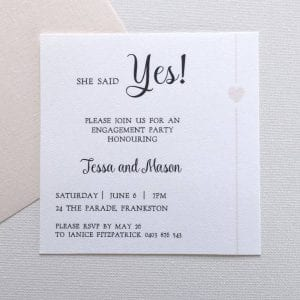 Simplicity blush Engagement Invitation