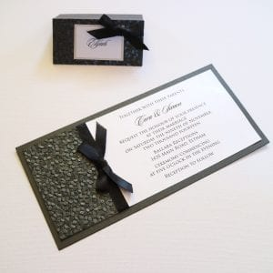 Black and White Engagement Invitation