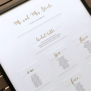 Wedding Reception Table Seating Chart