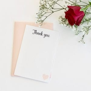 Simplicity wedding thank you card