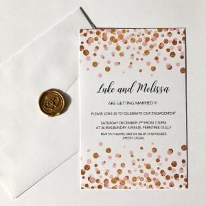 Confetti Engagement Invitation