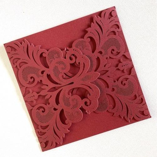 Wedding invitation burgundy