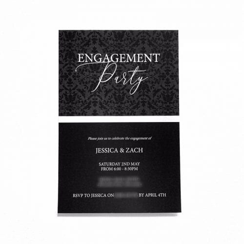 Damask Engagement Invitation