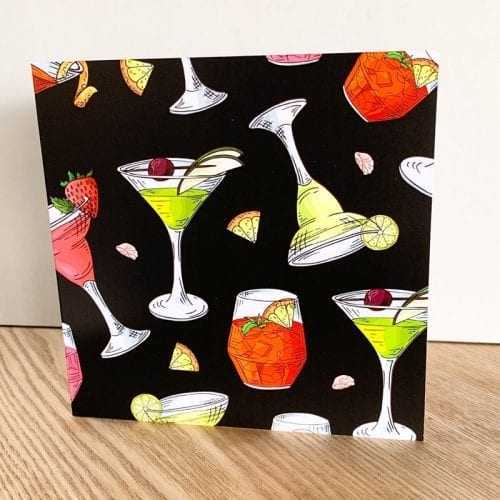 Black cocktail card