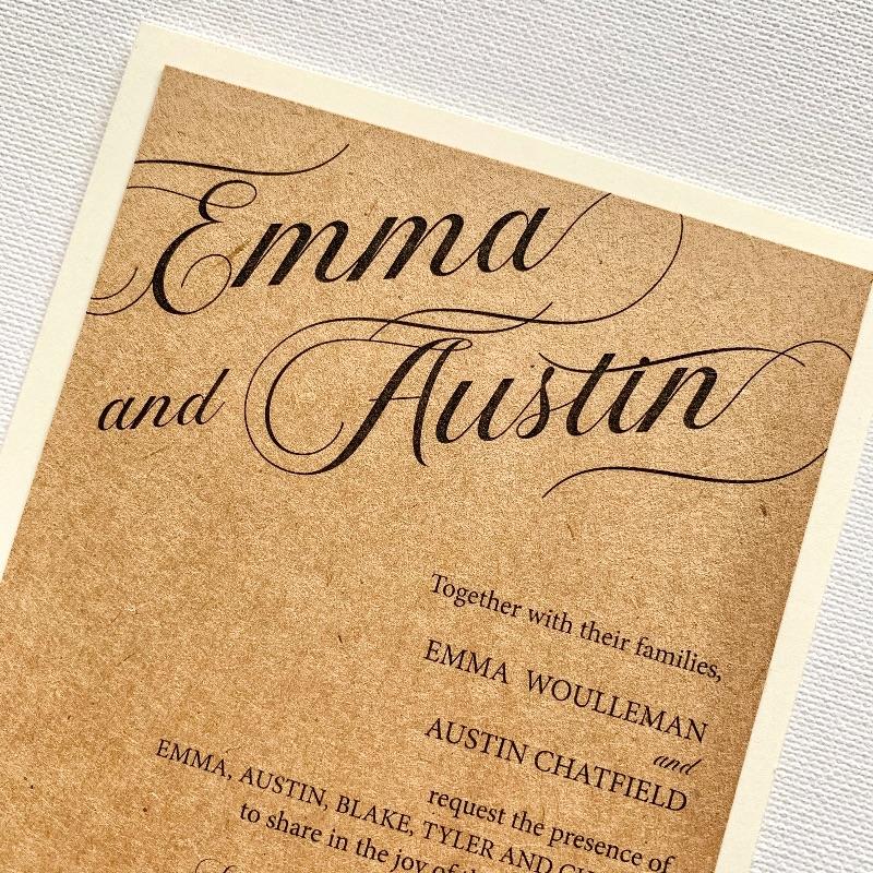 Rustic Rose Wedding Invitation