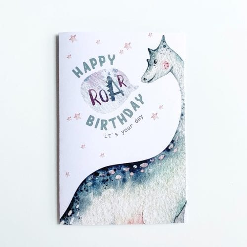 Brachiosaurus Birthday Card