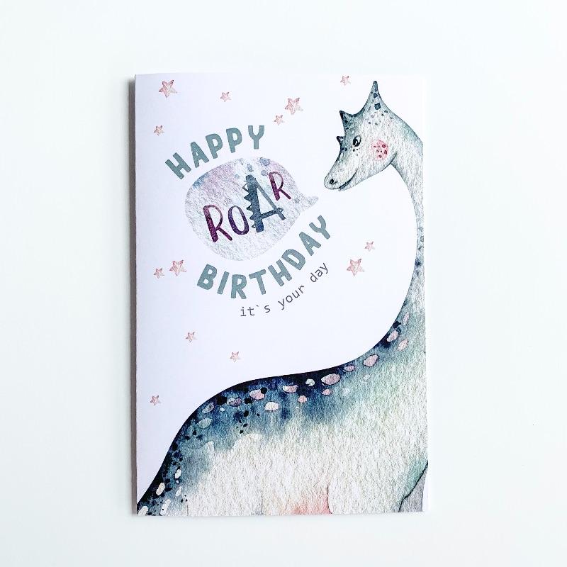 Brachiosaurus Birthday Card