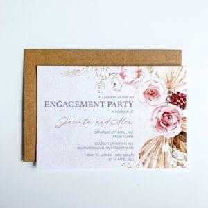 Boho Engagement Invitation