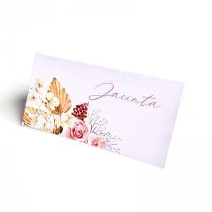 Boho floral place card