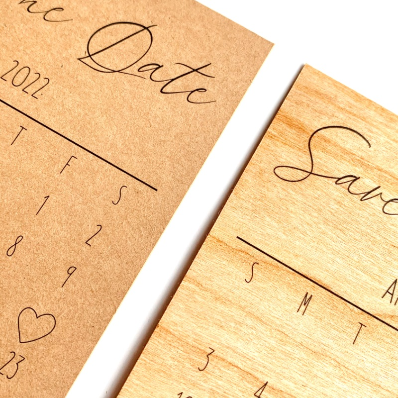 Save the Date Calendar Cards